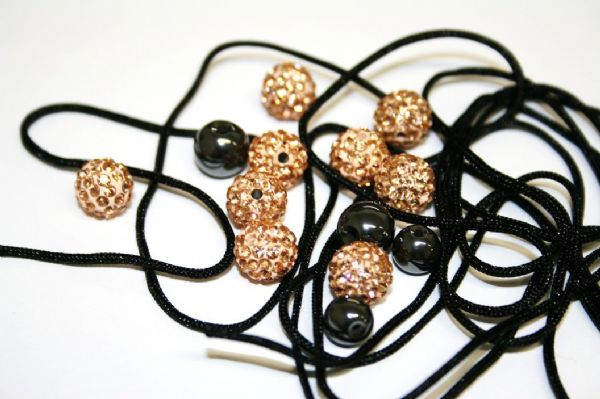 DIY Pave Crystal Bracelet Kit - peach colour - SC